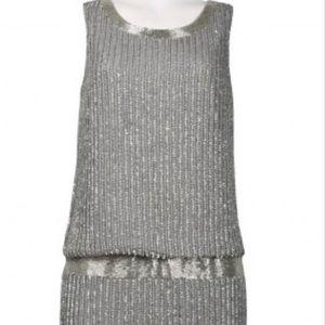 Adrianna Papell Sleeveless U-Shape Back Dress